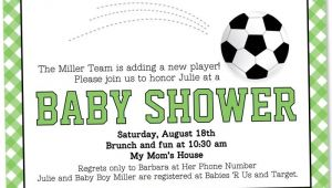 Baby Shower soccer Invitations soccer Baby Shower Invitation