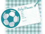 Baby Shower soccer Invitations soccer Baby Shower Invite Card Stock Vector Image