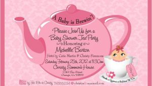 Baby Shower Tea Party Invitation Wording Tea Party Baby Shower Invitation Baby Shower