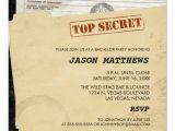 Bachelor Party Invites Funny Funny top Secret Bachelor Party Invitations Zazzle
