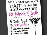 Bachelorette Party Invites Wording Bachelorette Party Invitation Zebra Print Printable Digital