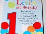 Ball themed Birthday Party Invitations Ball themed Party Invitation 1st Birthday Pinterest