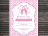 Ballerina Birthday Invitations Free Ballerina Birthday Invitation Pink Birthday Invitation