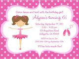 Ballerina Birthday Invitations Free Ballerina Birthday Invitations Ideas – Bagvania Free