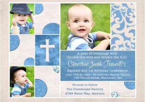 Baptism and Birthday Invitation Sample Shabby Chic Baptism & Birthday Invitation Custom S