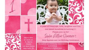 Baptism and First Birthday Invitation Wording Free Printable First Birthday and Baptism Invitations