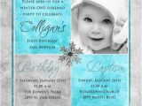 Baptism and First Birthday Invitations 1st Birthday and Christening Baptism Invitation Sample
