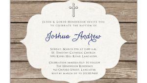 Baptism Invitations Etsy Baptism Invitation Rustic Christening Invitation Girl or Boy
