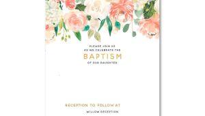 Baptism Invitations Free Templates Free Free Template Free Floral Baptism Invitation Template