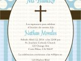 Baptism Invitations In Spanish Free First Munion Invitation Spanish Christening Baptism