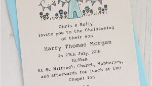 Baptism Invitations Uk Personalised Pack Of Christening Invitations by Eggbert