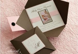 Baptism Invite Ideas Custom Programs Llc Dba Cherish Paperie Blog Custom