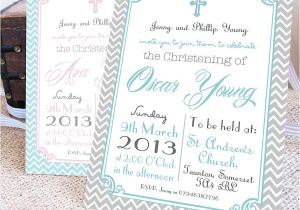 Baptism Invite Ideas Personalised Christening Invitations