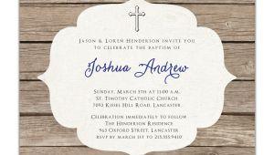 Baptism Invites Etsy Baptism Invitation Rustic Christening Invitation Girl or Boy