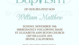 Baptism Wording Invitations Baby Boy Baptism Invitation