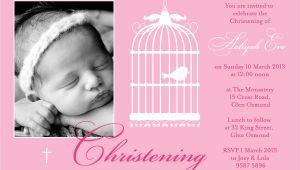 Baptismal Invitation for Baby Girl Baptism Invitations for Girl Free Christening Invitation