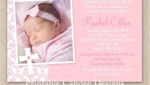 Baptismal Invitation Layout for Baby Girl Baby Girl Baptism Invitations