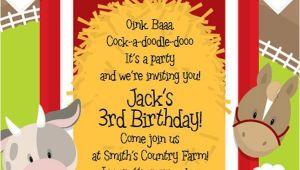 Barnyard Party Invitation Wording Farm Party Invitations On Pinterest