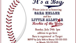 Baseball Invitations for Baby Shower Baseball Baby Shower Invitation