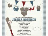 Baseball Invitations for Baby Shower Baseball themed Baby Shower Invitations