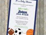 Basketball themed Baby Shower Invitations Baby Boy Shower Invitations All Star Invite Sports themed