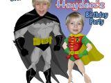Batman and Robin Birthday Invitations Batman Personalized Birthday Invitations Party