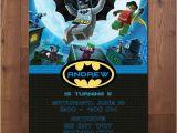 Batman and Robin Birthday Invitations Lego Batman and Robin Superhero Birthday Party Invitation
