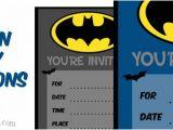 Batman Birthday Invites Free Printables Batman Birthday Invitations to Print — Printable Treats