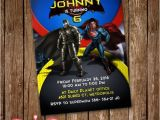 Batman Vs Superman Birthday Party Invitations Batman Vs Superman Invitation Card Party Invite by Lunalumuc