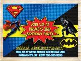 Batman Vs Superman Birthday Party Invitations On Sale Batman Superman Invitation Batman Superman Birthday