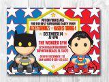 Batman Vs Superman Birthday Party Invitations Superman Batman Wonderwoman Birthday Invitation for One or