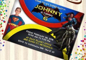 Batman Vs Superman Party Invitations Batman Vs Superman Invitations Batman Vs Superman Birthday