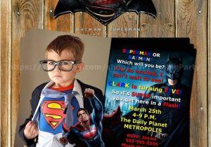 Batman Vs Superman Party Invitations Batman Vs Superman Superhero by Myprintableparty On Etsy