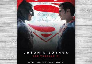Batman Vs Superman Party Invitations Items Similar to Batman V Superman Invitation Batman Vs