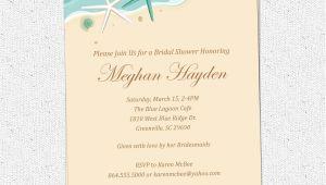 Beach Bridal Shower Invites Bridal Shower Invitations Elegant Beach theme Bridal
