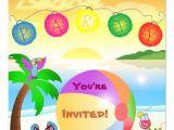 Beach Party Invitation Template Beach Party Invitation Template 5 25 Quot Square Invitation