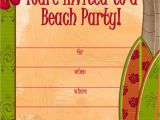 Beach Party Invitation Template Free Printable Party Invitations Free Invites for A