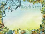 Beach Party Invitation Template Party Planning Center Free Printable Beach themed Party