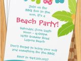 Beach Party Invitation Template Summer Beach Party Invitation