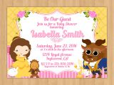 Beauty and the Beast Baby Shower Invitations Beauty and the Beast Baby Shower Invitation