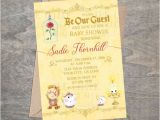 Beauty and the Beast Baby Shower Invitations Beauty Belle Beast Baby Shower Invitation Bell Be Our Guest