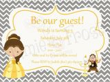 Beauty and the Beast Baby Shower Invitations Items Similar to Beauty and the Beast Invitation On Etsy