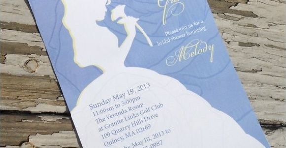 Beauty and the Beast Bridal Shower Invitations Disney Beauty and the Beast Belle Bridal Shower Invitation
