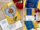 Beauty and the Beast Inspired Wedding Invitations Beauty and the Beast Inspired Wedding Invitation Laser