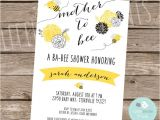 Bee Baby Shower Invites Bee Baby Shower Invitation Mother to Bee Invitation Black