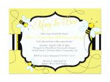 """Bee Baby Shower Invites Bee themed Baby Shower Invitation Mom to """"bee"""""""