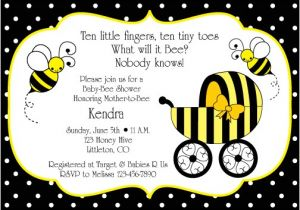 Bee Baby Shower Invites Bumble Bee Baby Shower Invitation