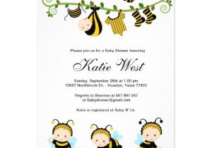 Bee Baby Shower Invites Personalized Bumble Bee Baby Invitations