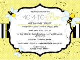 """Bee themed Baby Shower Invites Bee Baby Shower Invitation """"mom to """"bee"""" Bee themed"""