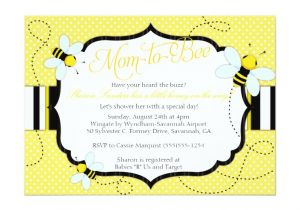 """Bee themed Baby Shower Invites Bee themed Baby Shower Invitation Mom to """"bee"""""""